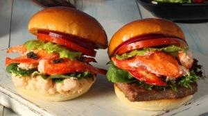 魚子醬和龍蝦漢堡